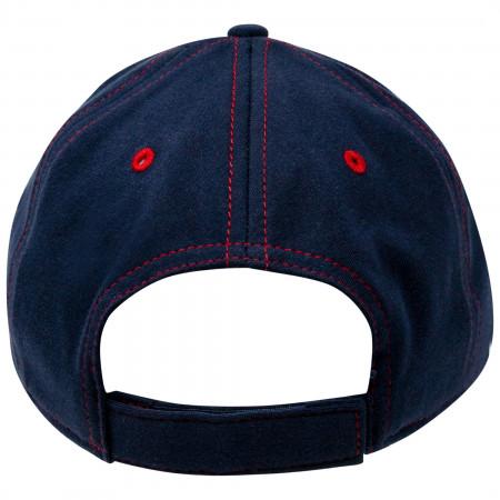 Mickey Mouse Blue Disney Script Logo Adjustable Strapback Hat