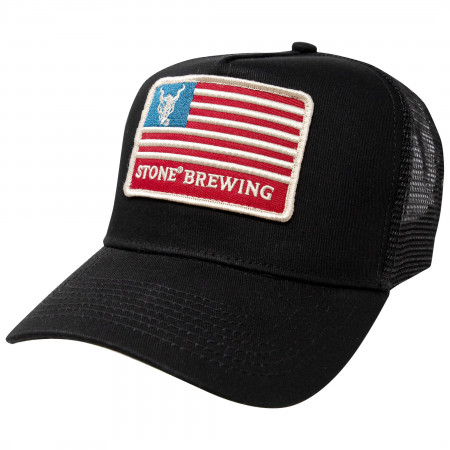 Stone Brewing Co. Adjustable Black Mesh America Trucker Snapback Hat