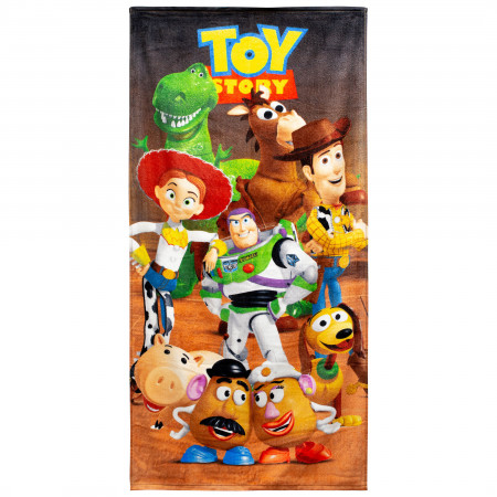Toy Story 28 X 58 Full Cast Beach Towel