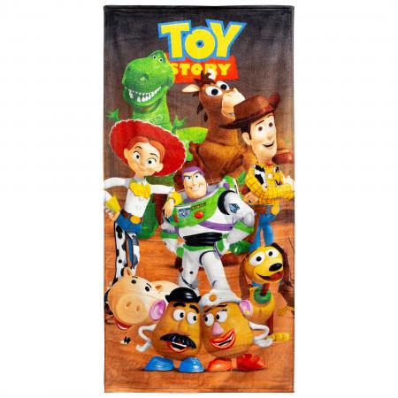 Toy Story 28 X 58 Full Cast Beach Towel