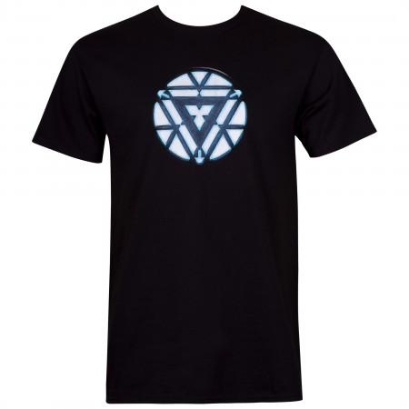Iron Man Arc Reactor Men's Black T-Shirt