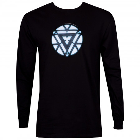 Iron Man Arc Reactor Men's Black Long Sleeve Shirt