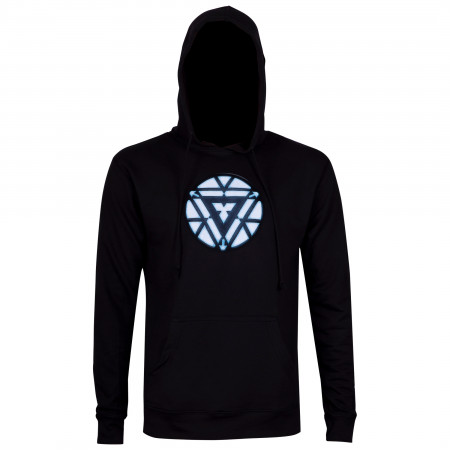 Iron Man Arc Reactor Men's Black Hoodie