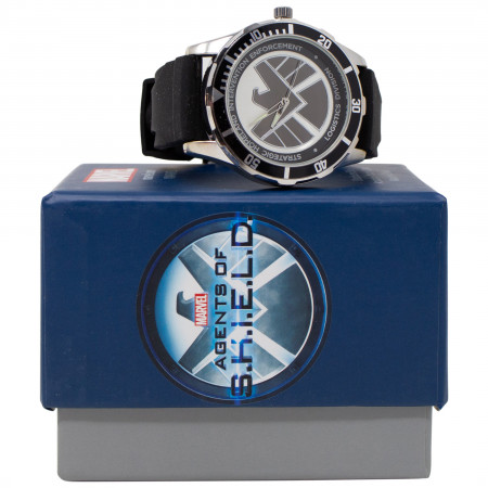Agents of SHIELD Symbol Watch with Rubber Wristband