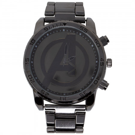"Avengers ""A"" Symbol Dark Grey Metal Watch"