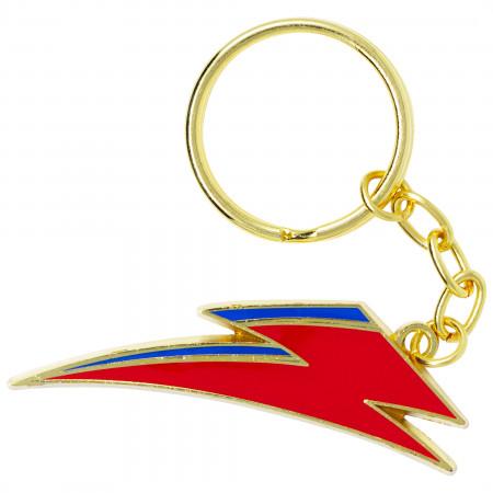 David Bowie Lightning Bolt Logo Keychain