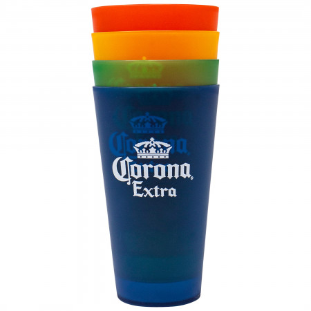 Corona Extra 4-Pack Colored 20 Ounce Cups