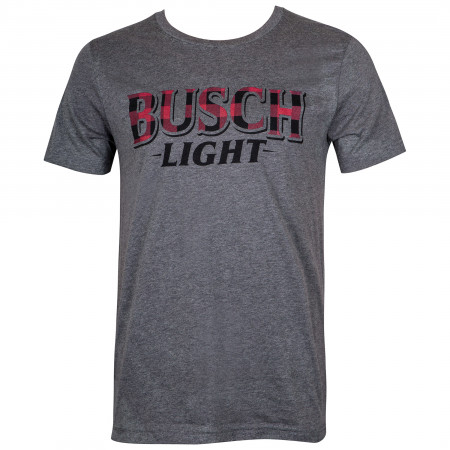 Busch Light Beer Men's Flannel Logo T-Shirt