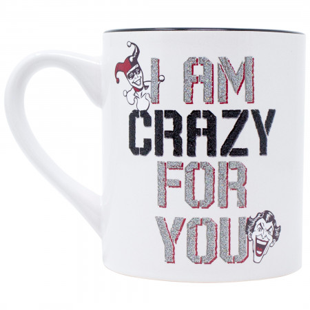 Harley Quinn and Joker Crazy For You Coffee Mug