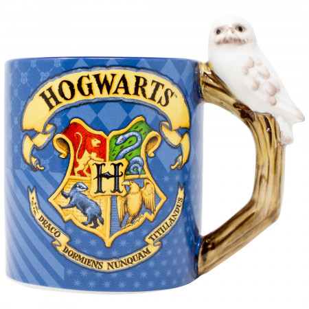 Harry Potter Hogwarts Houses Hedwig Handle 20 oz Mug