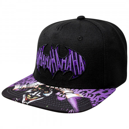 Batman Joker Sublimated Bill Black Snapback Hat