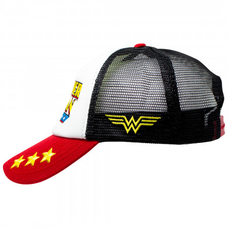 Wonder Woman Retro Logo Trucker Hat