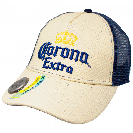 Corona Extra Straw Bottle Opener Hat