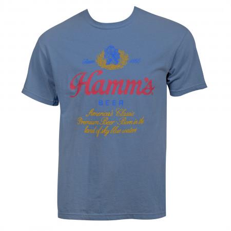 Hamm's Beer Logo Vintage Garment Wash T-Shirt