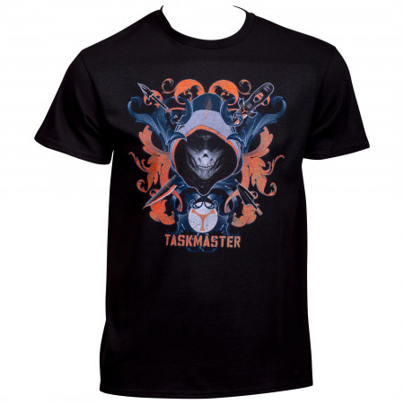 The Taskmaster Crossed Weapons Black Widow Movie T-Shirt