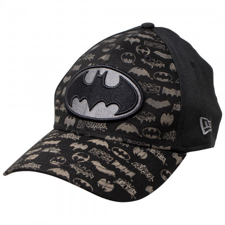 Batman New Era Laser Etched All Over Logos 39Thirty Hat