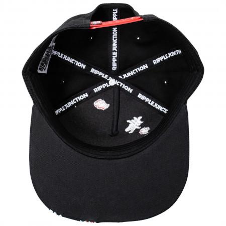 Naruto Akatsuki Kanji Ring Snapback Hat