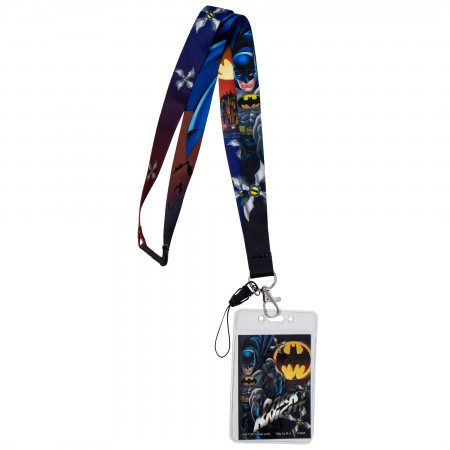 Batman Cartoon Lanyard with Card Holder