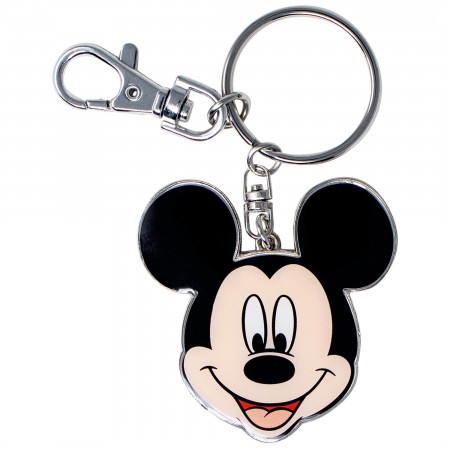 Disney Mickey Mouse Head Pewter Keychain