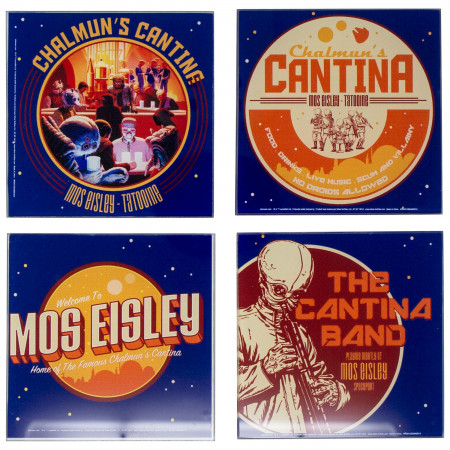 Star Wars 4-Pack Chalmun's Cantina Glass Coaster Set
