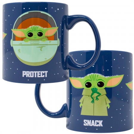 "The Mandalorian ""The Child"" Snack Attack Protect 20 Ounce Ceramic Mug"
