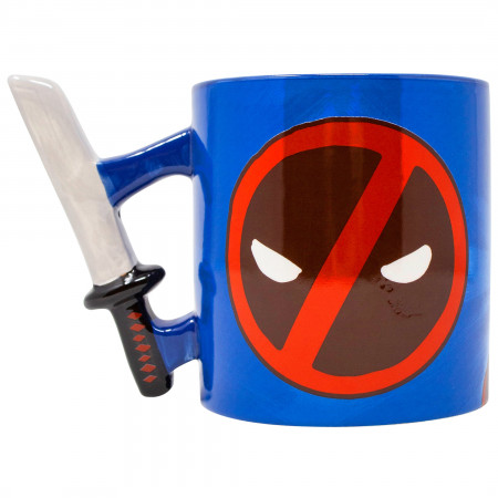 Deadpool Katana Handle 20 Ounce Mug