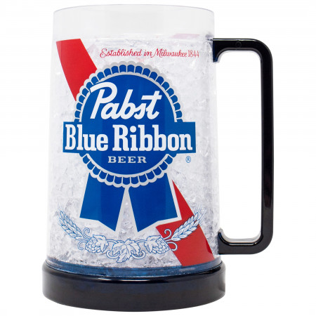 Pabst Blue Ribbon Freezeable 16 Ounce Beer Mug