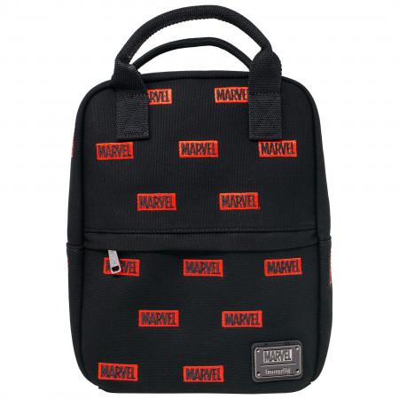 Marvel Logo All Over Print Canvas Mini Backpack