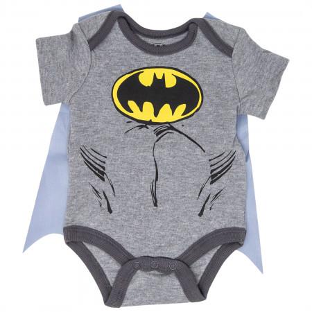 Batman Costume Bodysuit with Detachable Cape
