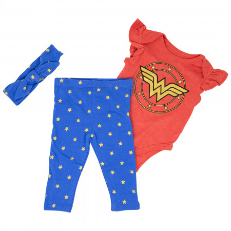 Wonder Woman Gold Symbol 3-Piece Outfit