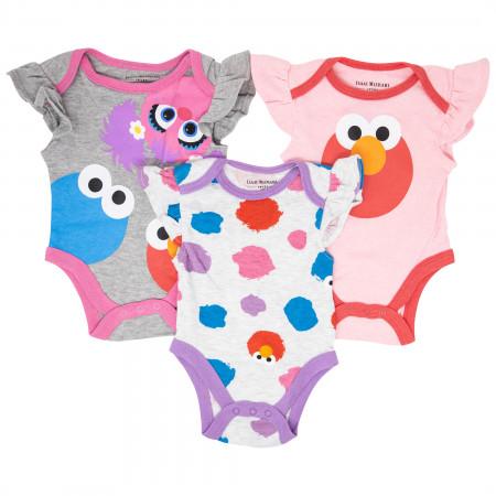 Elmo and Sesame Street 3-Pack Infant Bodysuit Set