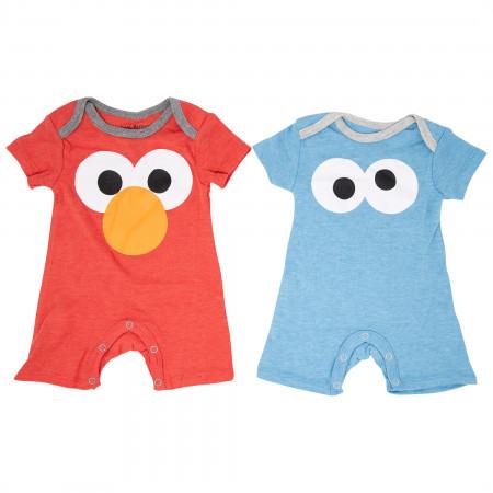 Sesame Street Elmo and Cookie Monster 2-Pack Infant Bodysuit Set