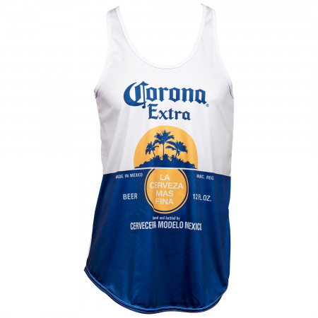Corona Bottle Label Women's Racerback Tank Top