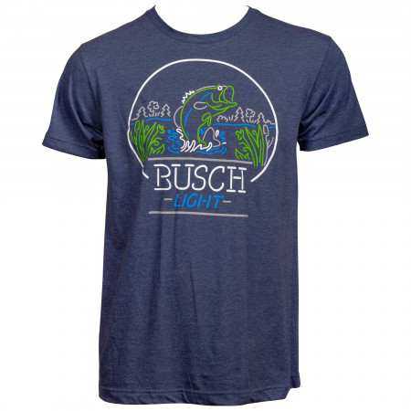 Busch Light Bass Fishing Neon Sign T-Shirt