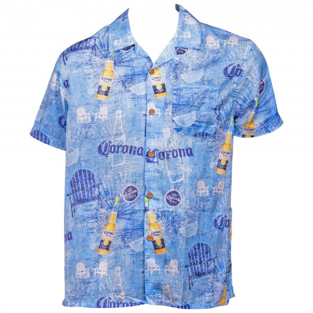 Corona Extra Blue Hawaiian Shirt