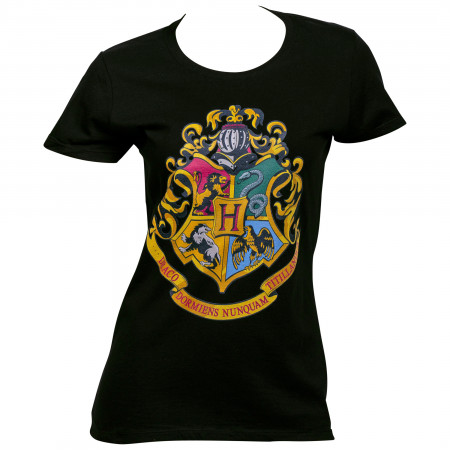 Harry Potter Hogwarts Crest Juniors T-Shirt