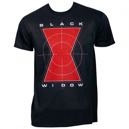 The Black Widow Symbol in Crosshairs T-Shirt