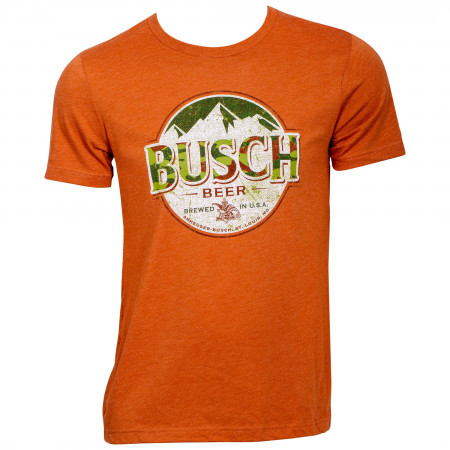 Busch Beer Camo Logo Hunter Orange T-Shirt