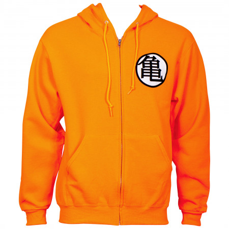 Dragon Ball Z Kame Symbol Orange Zip Hoodie