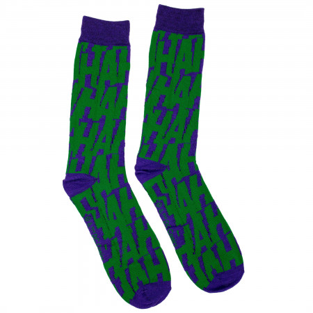 The Joker HaHaHa All-Over Crew Socks