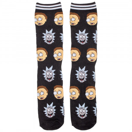 Rick and Morty Portal and Repeating Faces 2-Pack Socks