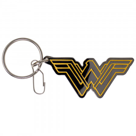 Wonder Woman Silver and Gold Symbol Keychain