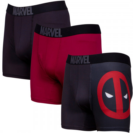Deadpool Performance Mesh Underwear Boxer Briefs 3-Pair Pack