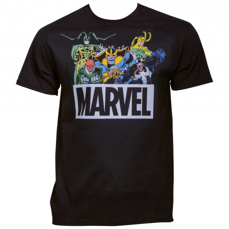 Marvel Comics Brand Villains Lineup T-Shirt