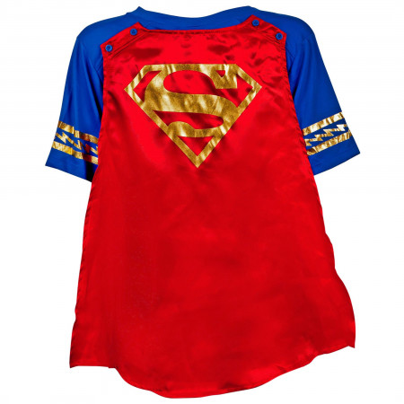 Supergirl Symbol with Cape Women's T-Shirt