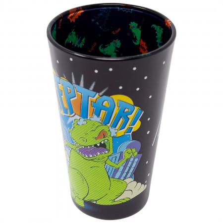 Rugrats Reptar Black Pint Glass