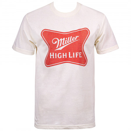 Miller High Life Beer Classic Logo Men's Cream T-Shirt