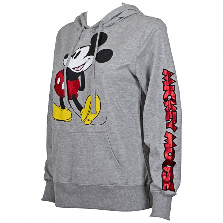 Mickey Mouse Red Foil Women's Hoodie