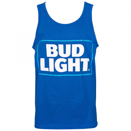 Bud Light Logo Blue Box Men's Tank Top