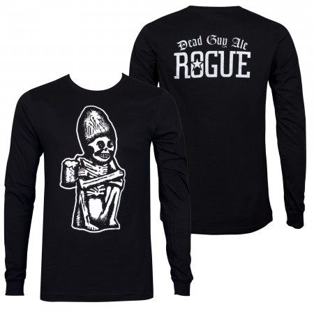 Rogue Ale Dead Guy Ale Black Long Sleeve Tee Shirt